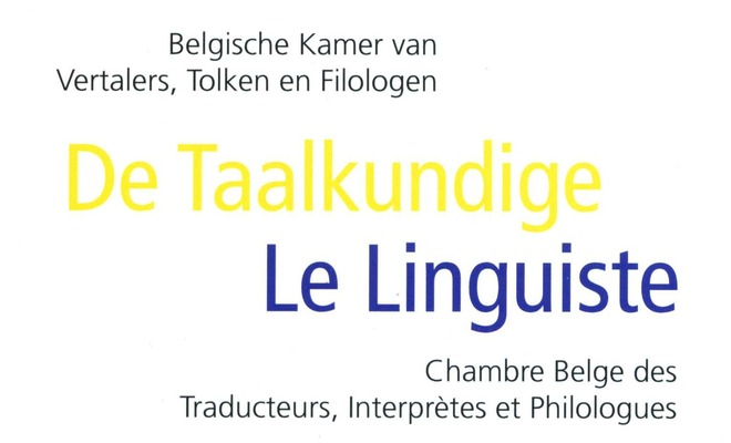 De Taalkundige / Le Linguiste 2012-1