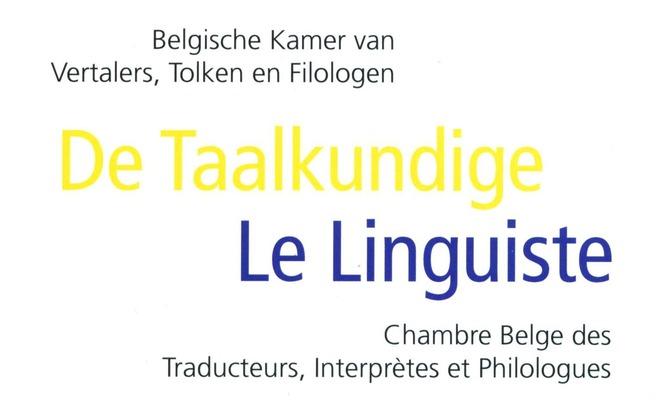 De Taalkundige / Le Linguiste 2012-3
