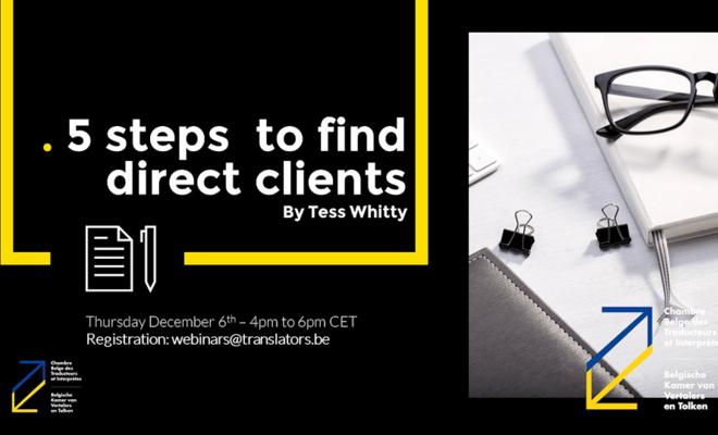 Webinar: 5 stappen om directe klanten te vinden