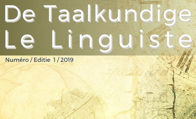 De Taalkundige / Le Linguiste 2019-1