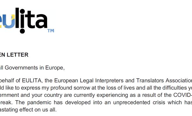 Open brief van de voorzitter van EULITA
